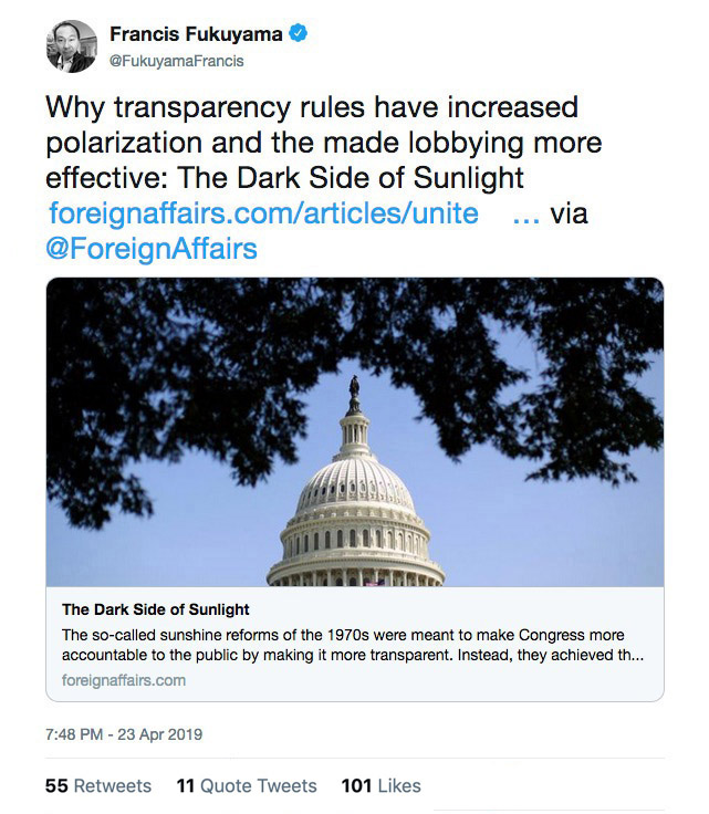 Academic Citations on the Pitfalls of Congressional Transparency